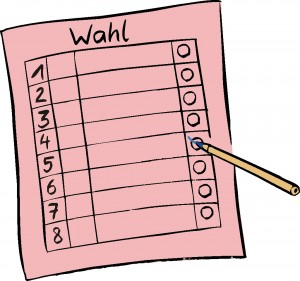 Wahl-Stimmzettel